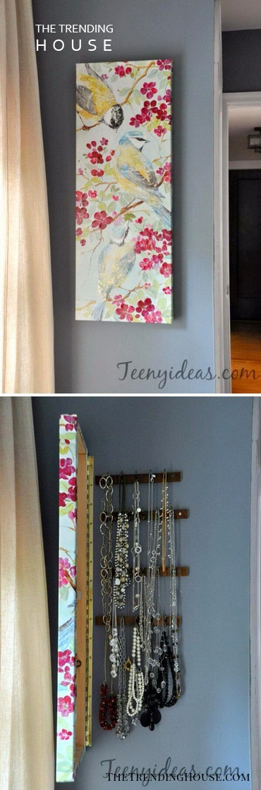 Hidden Accent Art Jewellery Organizer Ideas