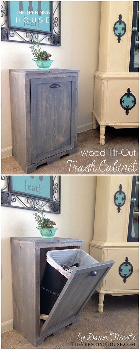 Hide Your Trash Can Cabinet