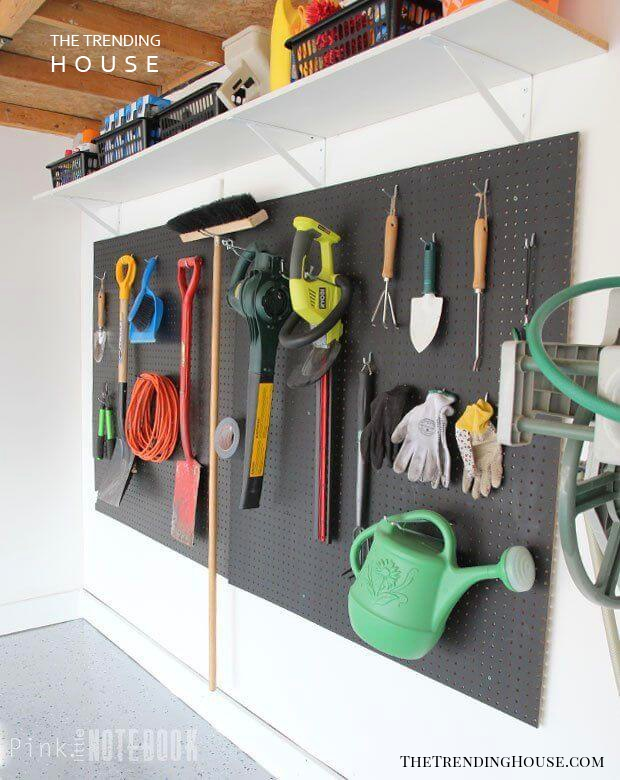 High Visibility Black Pegboard Wall