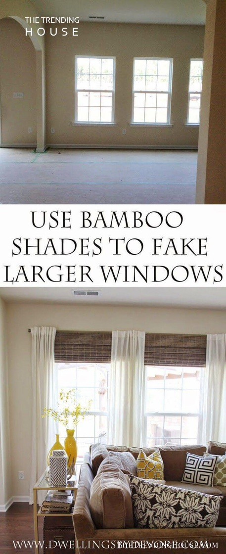 How to Fake Floor-To-Ceiling Windows