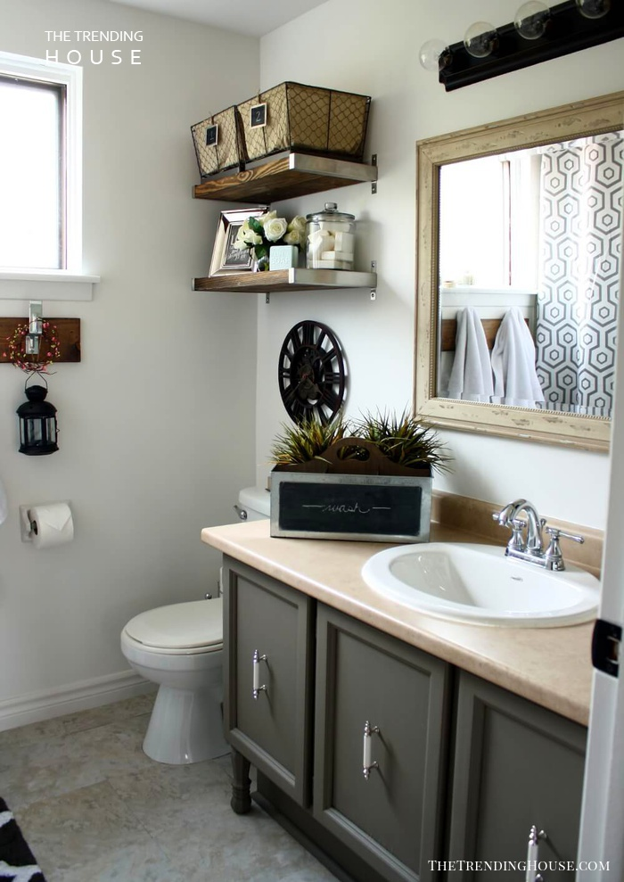 Industrial Chic Updates to Dated Fixtures