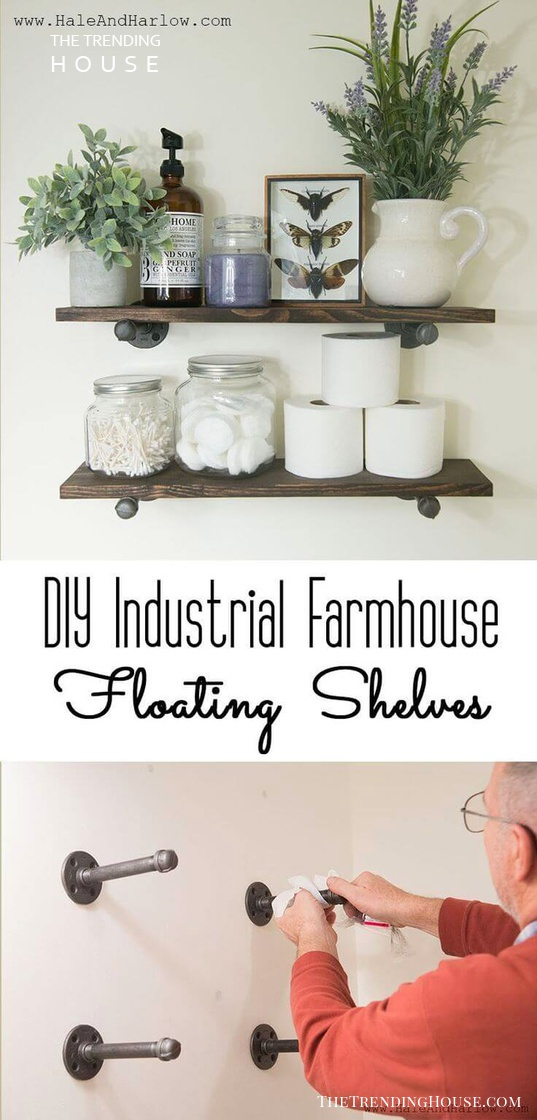 Industrial Farm House Floating Shelves
