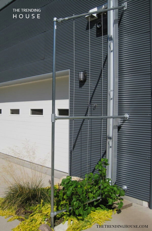 Industrial Metal Pipe and Cable Trellis