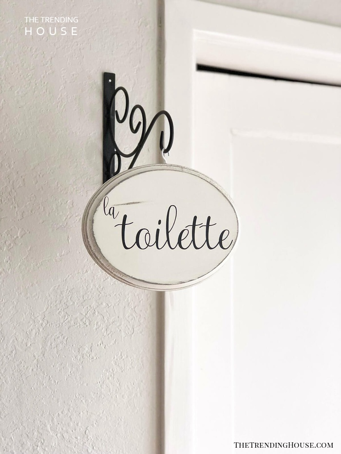 La Toilette French Country Hanging Sign