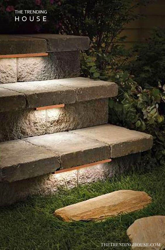 Lights Set in the Top of Stairs