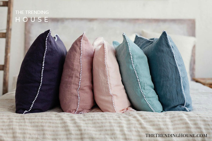 Little PomPom Pillowcase in 12 Colors