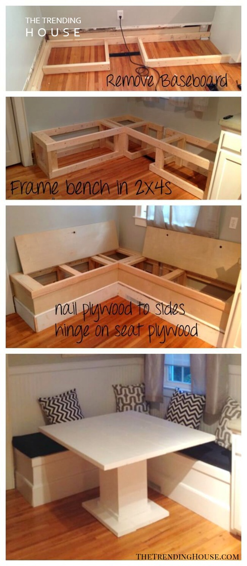 Make Your Own Breakfast Nook with Storage