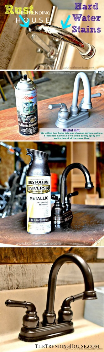 Metallic Beauty from Rust and Hard Water