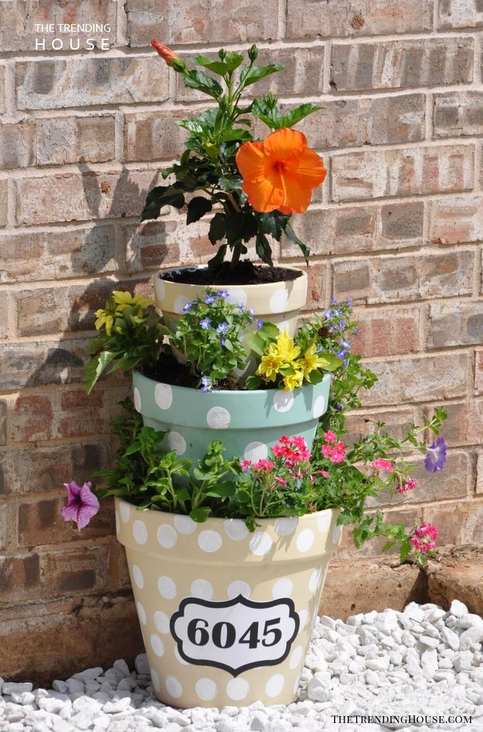 Multi Level Pots with Charming Flowers