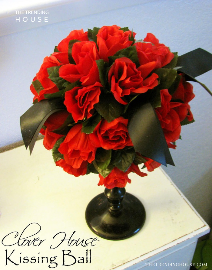 Natural Sphere with Red Roses