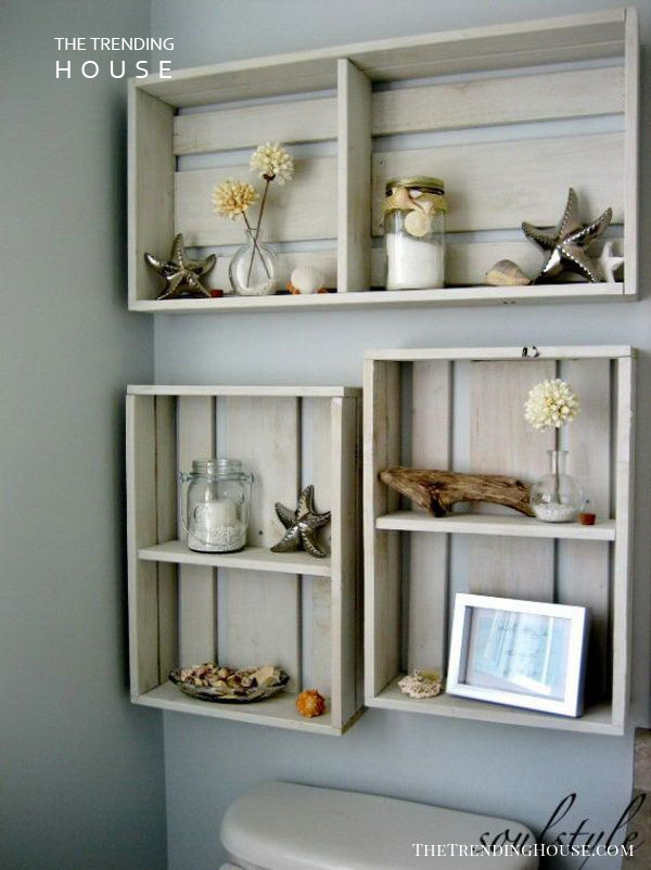 Display your Nautical Decorations with Wood Crates