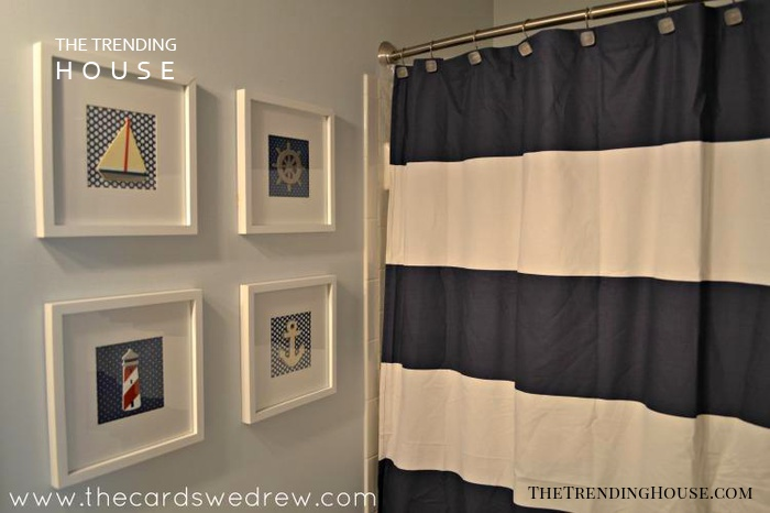 Cool Nautical Bathroom Décor on a Budget