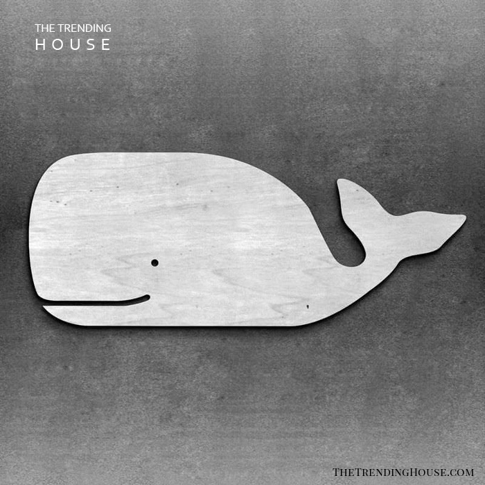 Nautical Wooden Whale Accent