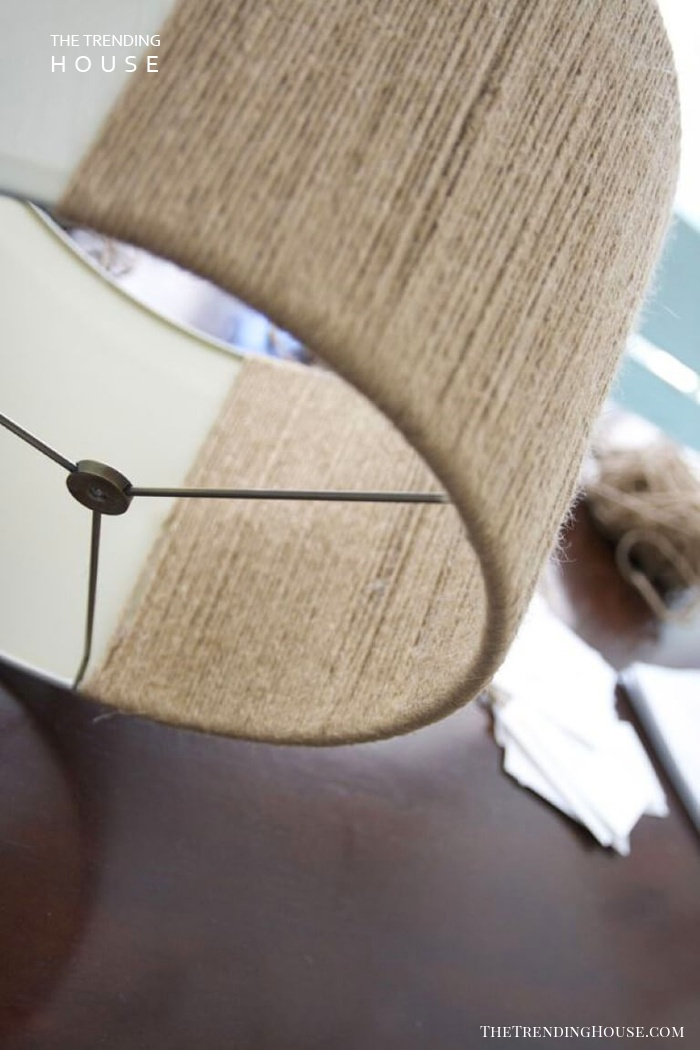 Neutral Textured Lampshade