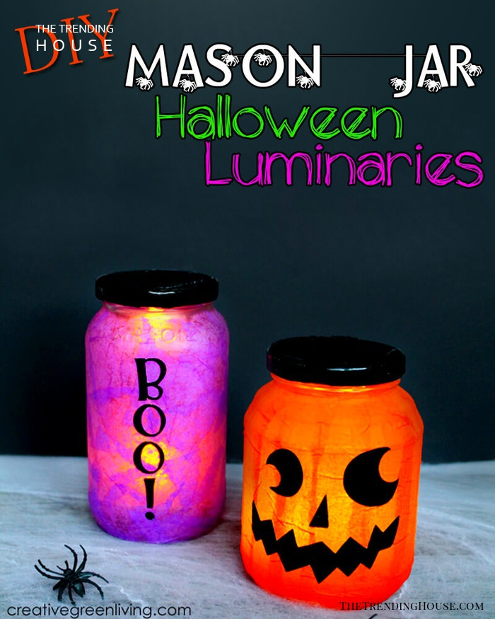 Not-So-Scary Halloween Mason Jar Lanterns