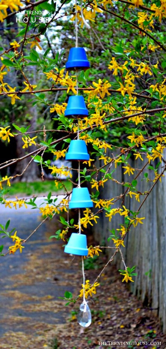 Ombre Pot Wind Chime or Rain Chain
