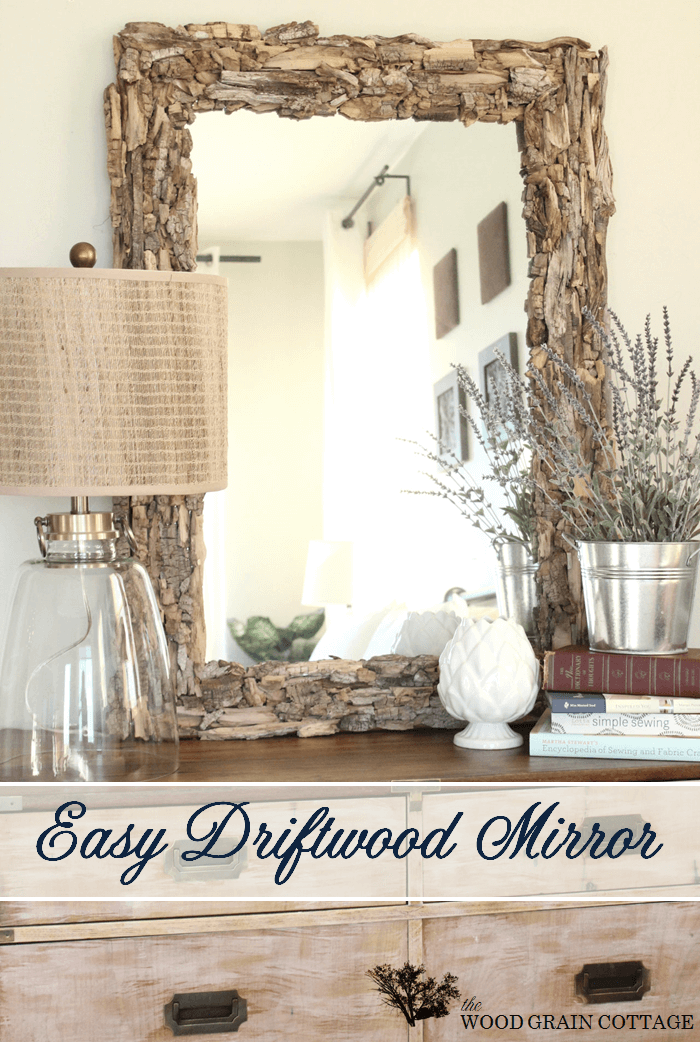 One of a Kind Driftwood Mirror