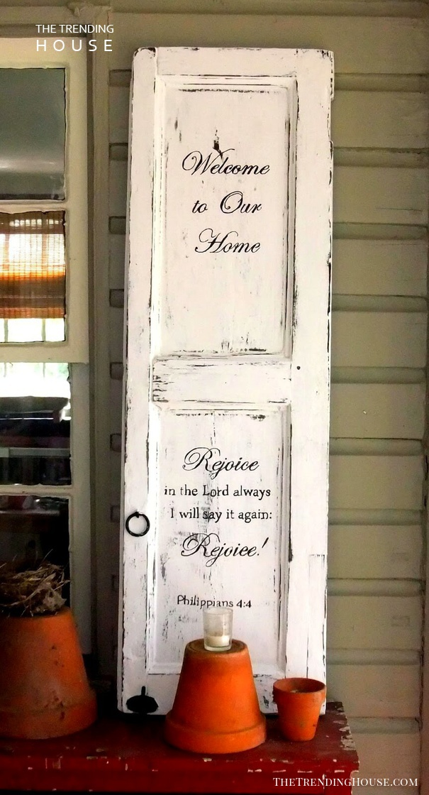 One-of-a-Kind Outdoor Welcome Sign