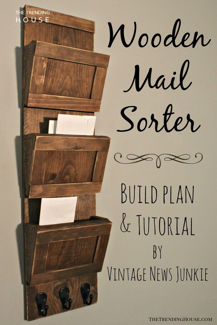 Organize Your Mail! Wooden Sorter