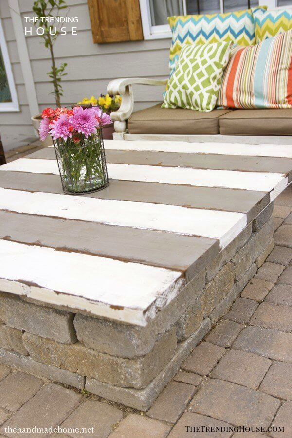 Outdoor Patio Fire Pit Table Top