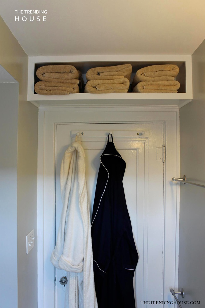 Over the Door Towel Shelf