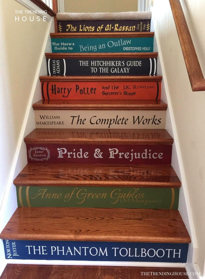 Paint Book Titles On Steps