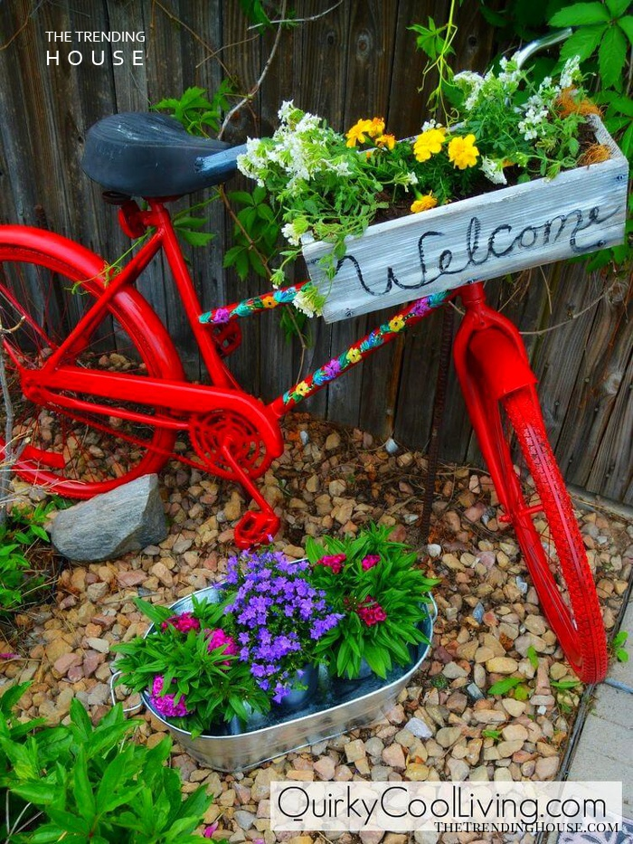 Painted Bicycle with a Handle Box