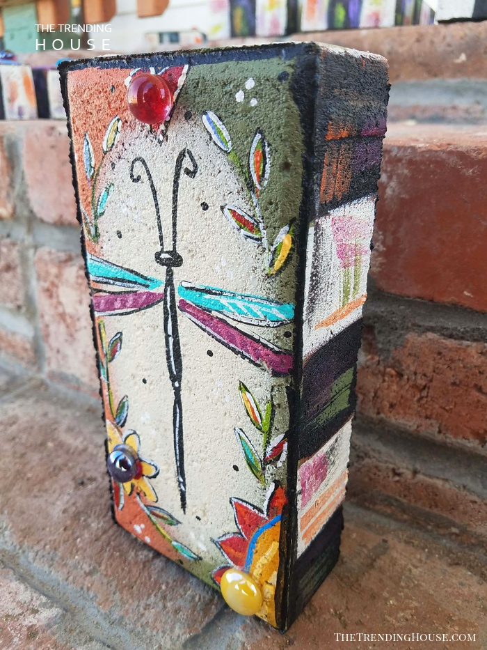 Painted Garden Bricks Perfect for Gifts or Décor