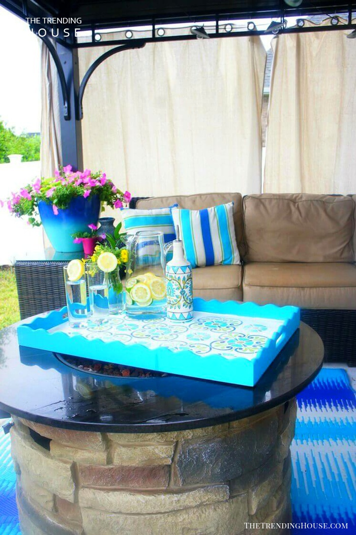 Perfect Summer Evening Fireplace and Lounge Set