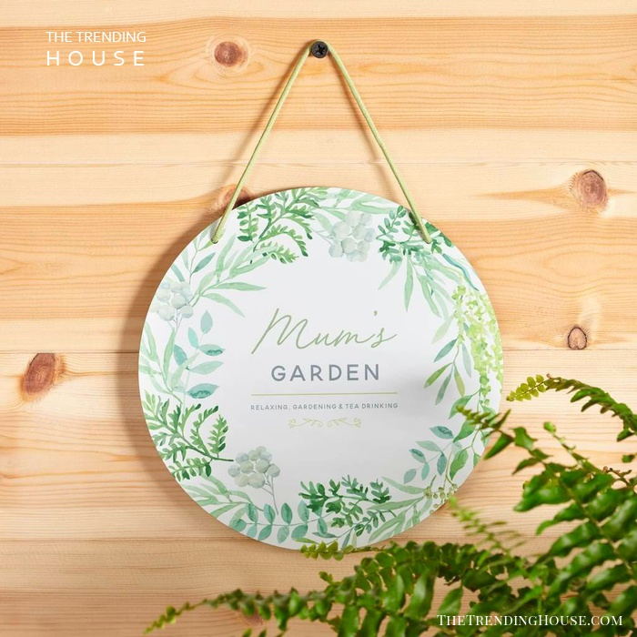 Personalized Round Metal Garden Sign