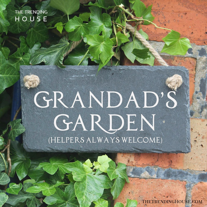 Personalized Slate Garden Sign