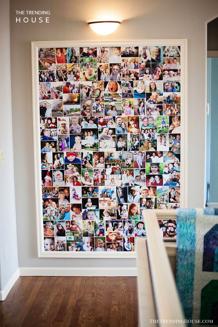 Photo Collection in a Colorful Collage