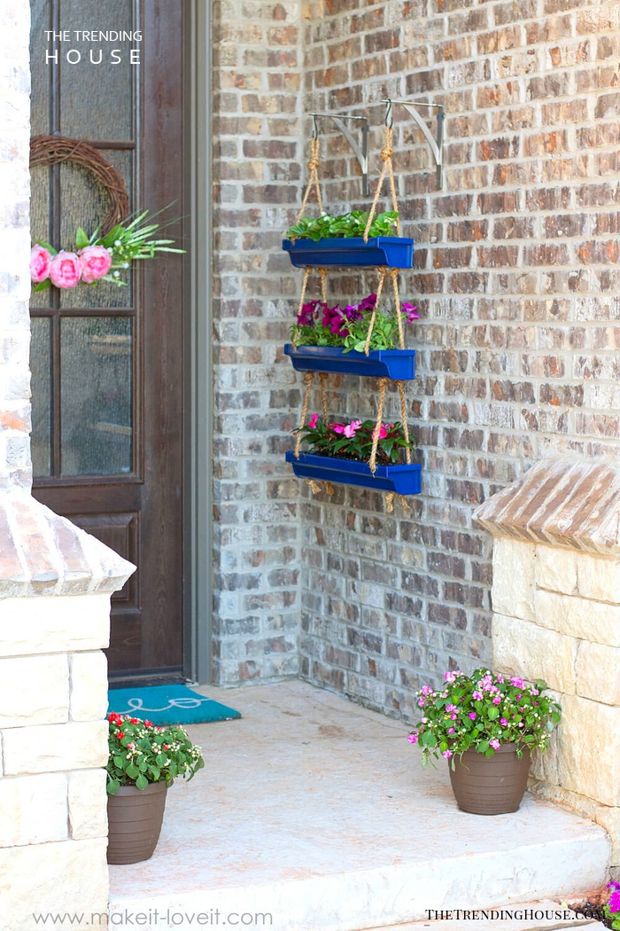 Planter Made from Hanging Gutters