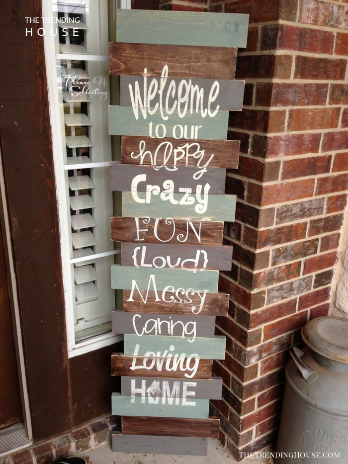 Playful Porch Sign with Whimsical Lettering