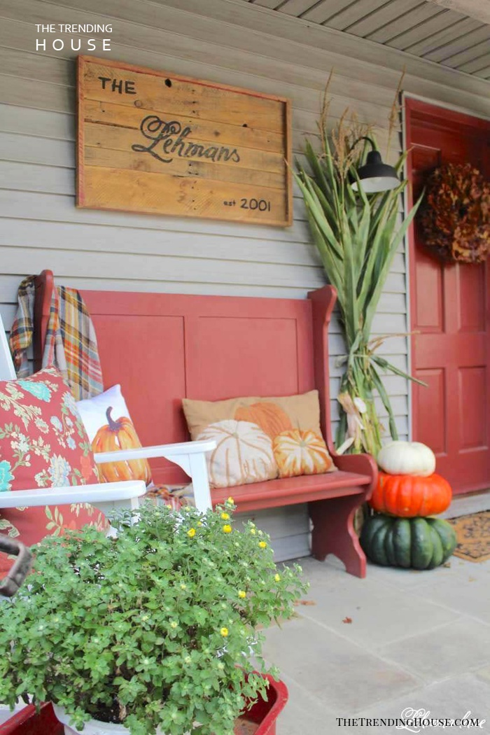 Porch Wall Decor Ideas with Name Plaques