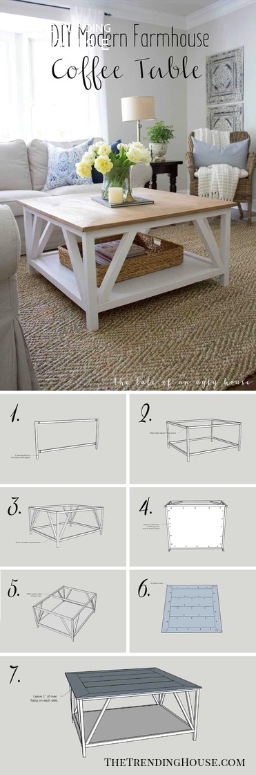 25 Diy Farmhouse Coffee Table Ideas That Are Both Practical And Stylish The Trending House