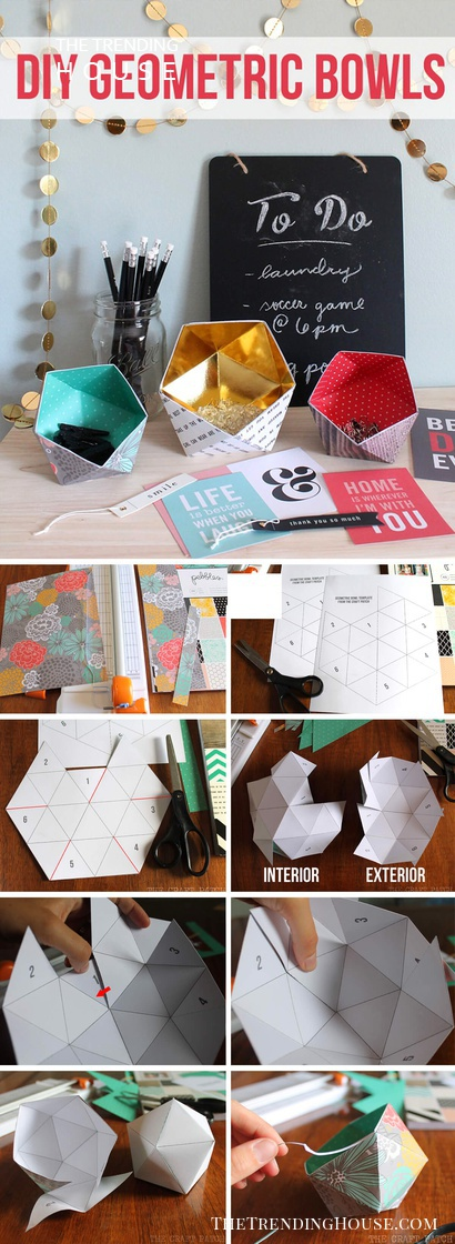27 Fun And Colorful Paper Decor Crafts You Can Make In An Afternoon The Trending House
