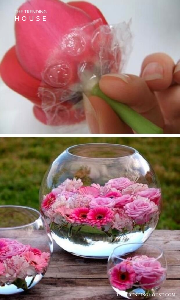 Pretty In Pink Floating Fishbowl