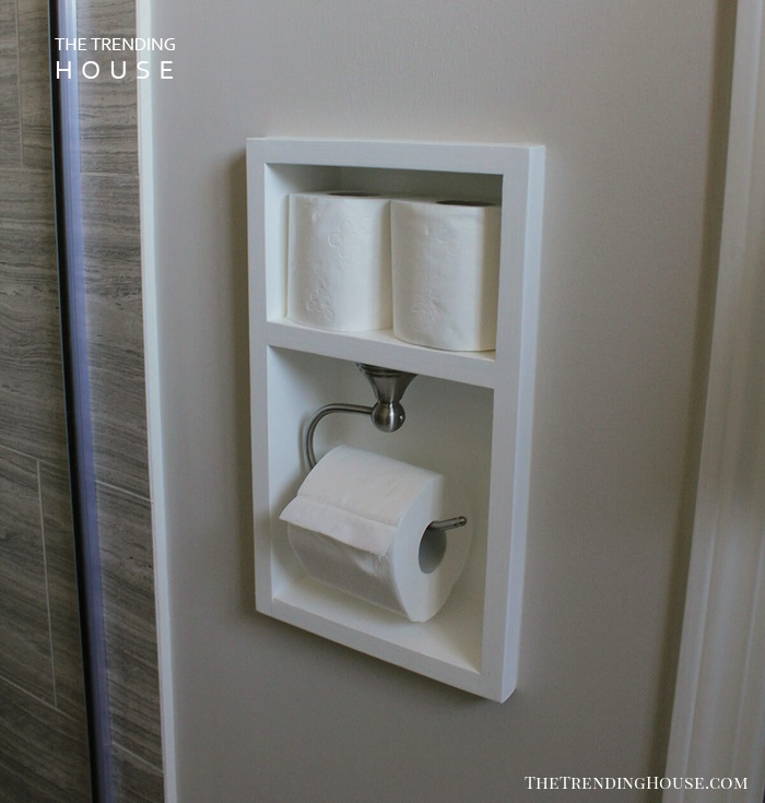 Recessed Toilet Paper Holder and Storage