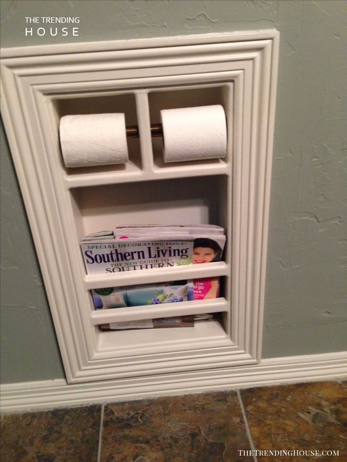 Recessed Wall Niche Roll Holder