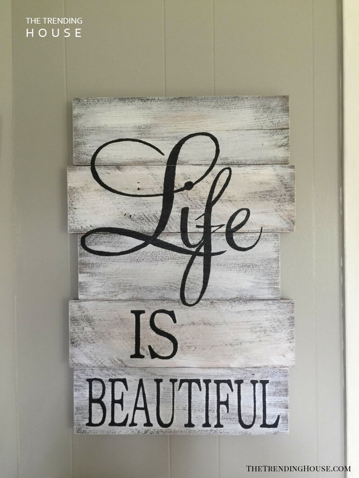 Reclaimed Wooden Sign With Inspiring Message
