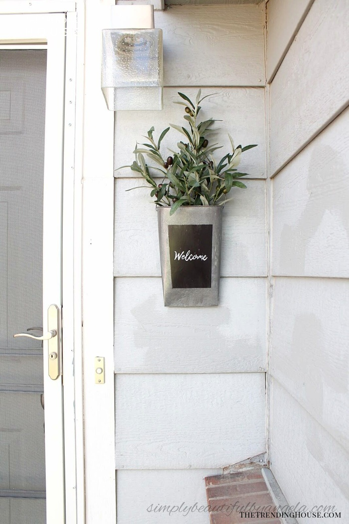 Recycled Galvanized Metal Welcome Sconce