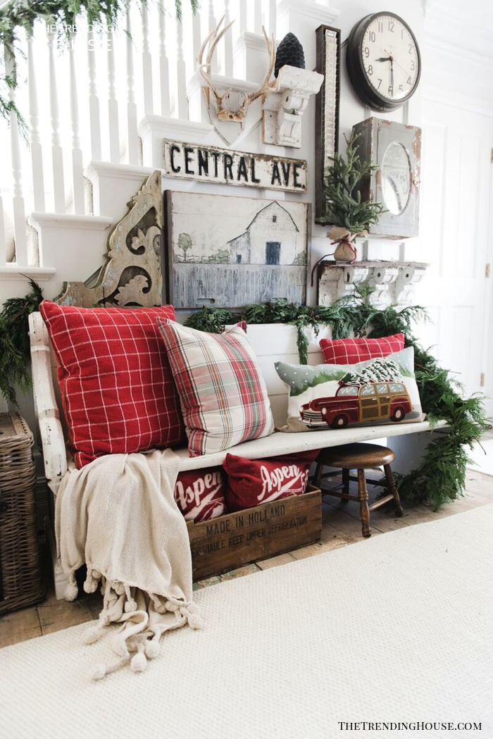 Red and White Throw Pillow Inspiration