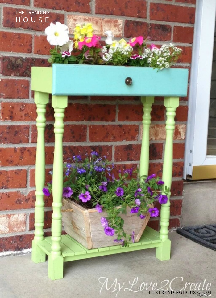 Repainted Drawer on a Stand