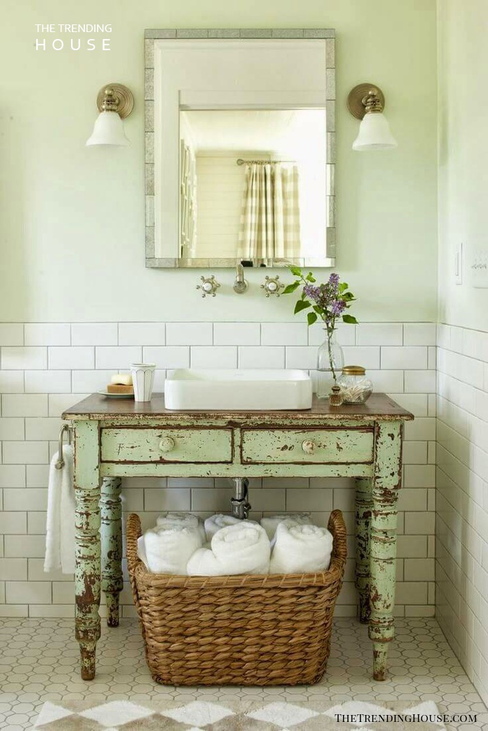 28 Ways To Give Your Bathroom A Shabby Chic Vibe The Trending House
