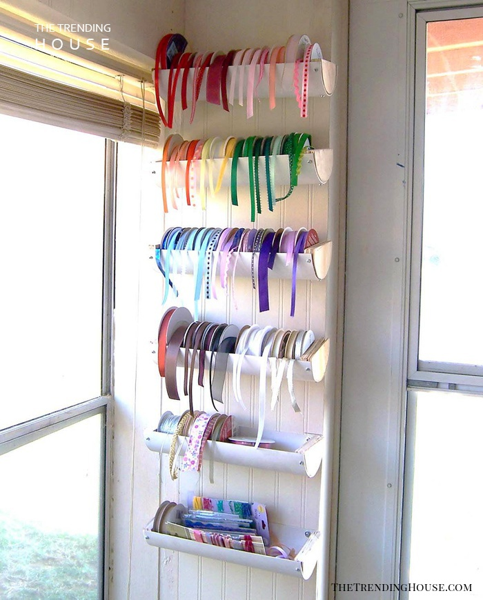 Ribbon PVC Pipe Organizing Projects