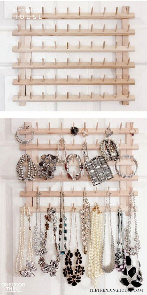 Ring, Bracelet and Necklace Wall Tree
