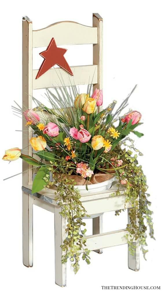 Ring in Spring with a Flower Pot Chair