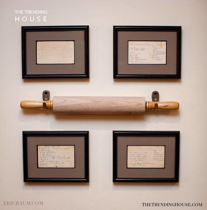 Rolling Pin and Recipe Card Display