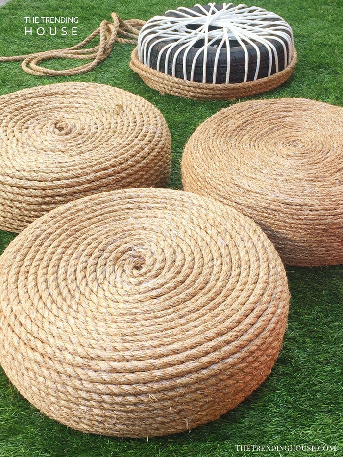 Rope Covered Recycled Tire Seats